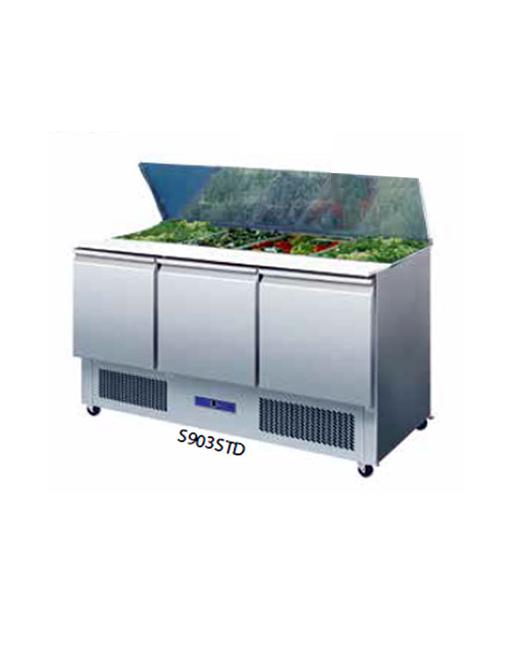 Artik Cold Saladette Prep Counter Commercial Refrigeration - Cold prep table for sale