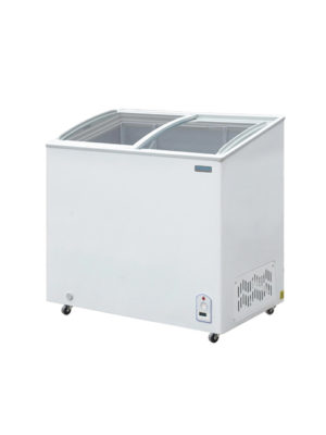 chest-freezer-polar-cm433-white-laminated-sliding-glass-top-display