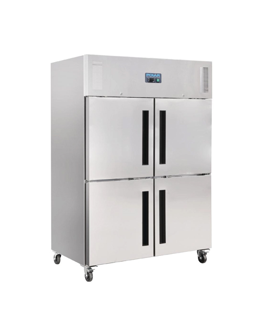 double-stable-door-polar-cw195-stainless-steel-gastro-upright-fridge