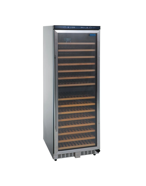dual-zone-temp-polar-ce218-black-laminated-wine-display-chiller