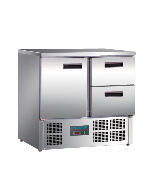 Polar U Prep Fridge Commercial Refrigeration Shopfitting - Commercial prep table refrigerator