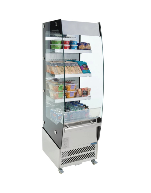 refrigerated-multideck-polar-cd239-stainless-steel-display-counter