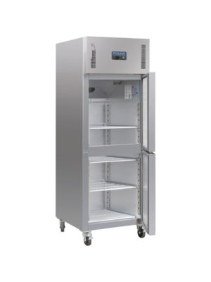 single-stable-door-polar-cw193-stainless-steel-gastro-upright-fridge