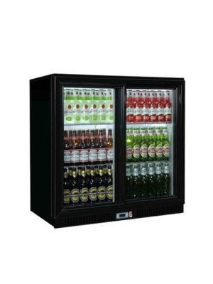 sterling-pro-sp2bc-bs-black-double-door-sliding-bottle-cooler