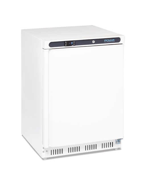 undercounter-freezer-polar-cd611-white-laminated-single-solid-door