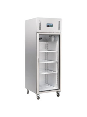 upright-display-polar-cw197-stainless-steel-single-glass-door-fridge