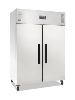 upright-storage-fridge-polar-g594-stainless-steel-double-solid-door