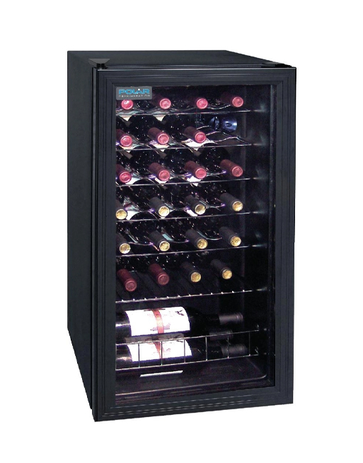 wine-display-polar-ce203-black-laminated-single-glass-door-chiller