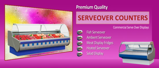 Commercial Serveover Counters
